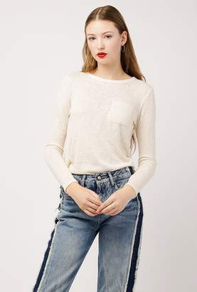Azalea Maude LS Pocket Crewneck Top