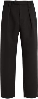 Acne Studios Airan Poly pleated straight-leg trousers