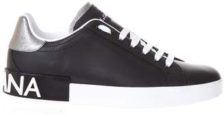 Dolce & Gabbana Portofino Sneakers In Nappa Calfskin