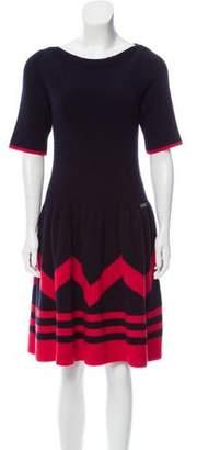 Louis Vuitton Ribbed Wool Dress