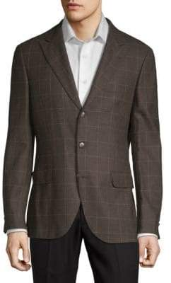 Brunello Cucinelli SIngle-reasted Check Sport Jacket