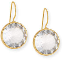 clear Dina Mackney Large Quartz Drop Earrings