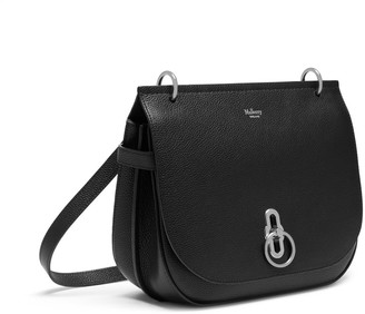 Mulberry Amberley Satchel Black Small Classic Grain