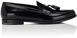 Giorgio Armani MEN'S TASSEL-EMBELLISHED SPAZZOLATO LEATHER LOAFERS