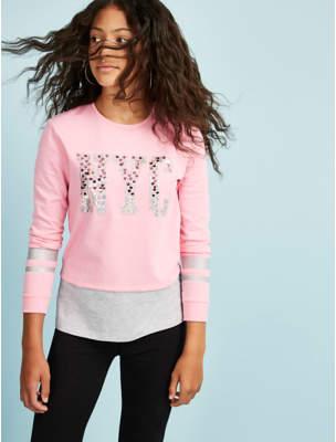 George Pink NYC Sequin Sweatshirt