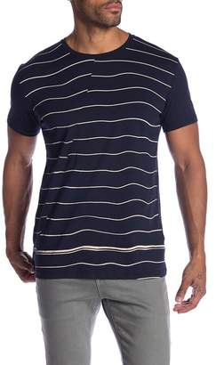 Ben Sherman Warp Breton Stripe Fashion Crew Neck Tee