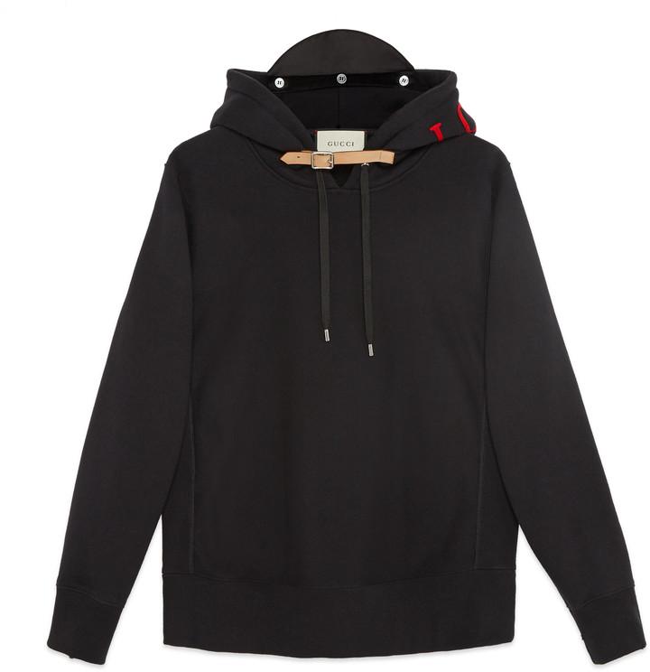 Cotton sweatshirt with appliqués