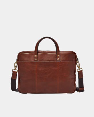 at THE ICONIC Fossil Defender Cognac Briefcase