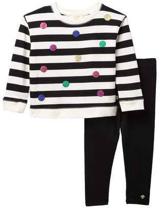 Kate Spade glitter dot legging set (Toddler & Little Girls)