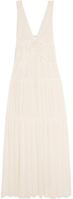See by Chloé - Tiered Voile Maxi Dress - Ecru $595 thestylecure.com