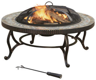 Pleasant Hearth Metal Wood Burning Fire Pit Table