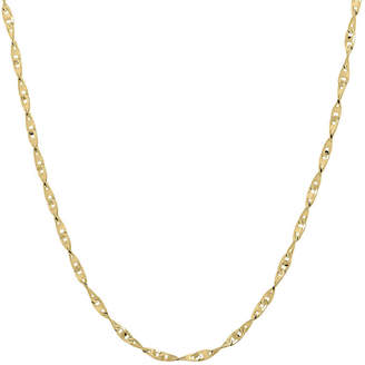 JCPenney FINE JEWELRY Infinite Gold 14K Yellow Gold 20 Flat Twisted Link Chain Necklace