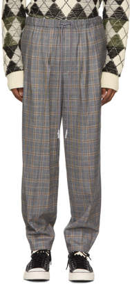 Toga Virilis Grey Checkered Wool Trousers