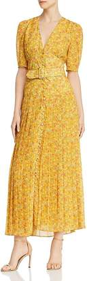 Divine Heritage Floral Pleated Maxi Dress
