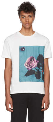 Paul Smith White Rose Applique T-Shirt