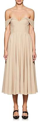 Co Women's Cotton-Linen Off-The-Shoulder Gown