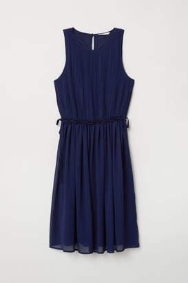H&M Pleated Chiffon Dress - Blue