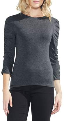 Vince Camuto Ruched Sleeve Tee