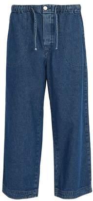 Raey Drawstring Denim Trousers - Mens - Indigo