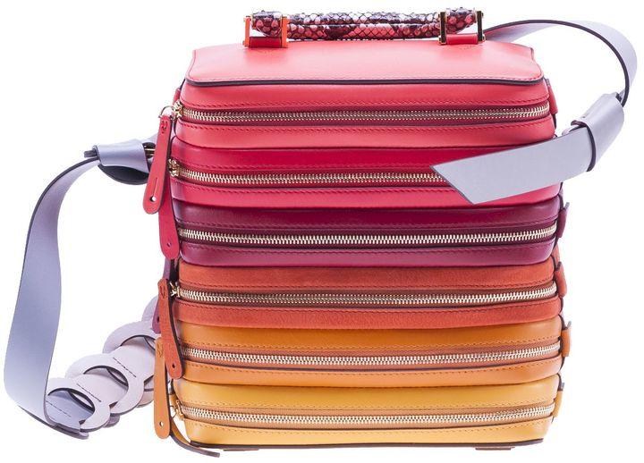 Anya HindmarchAnya Hindmarch Circle Six Zip Stack Shoulder Bag