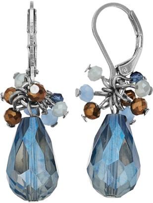 Vera Wang Simply Vera Leverback Cluster Bead Drop Earrings