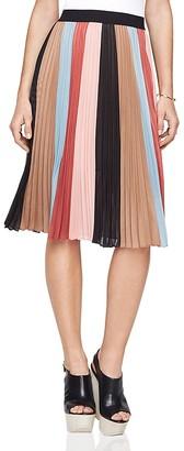 BCBGMAXAZRIA Nestia Color-Block Skirt $248 thestylecure.com