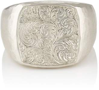 Malcolm Betts Women's Sterling Silver Signet Ring