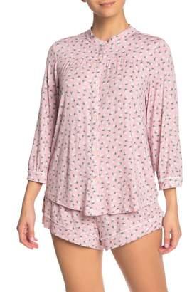 Eberjey Petite Fleur Button Front Pajama Top