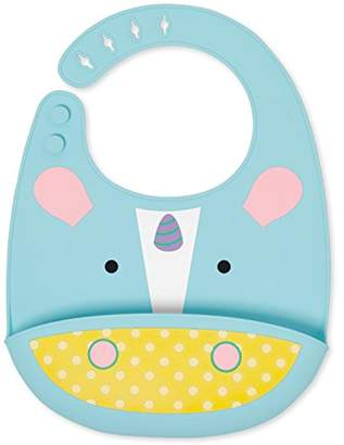Skip Hop SkipHop Zoo Fold and Go Silicone Bib, Unicorn
