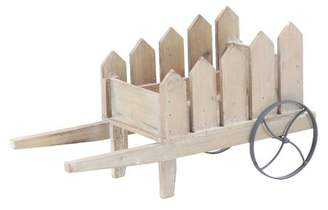 Cole & Grey Traditional Picket Fence Wheelbarrow Planter