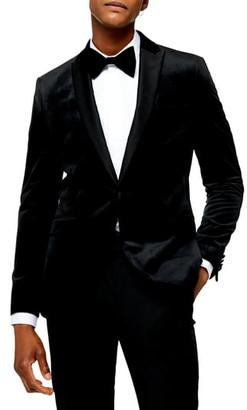 Topman Velvet Skinny Fit Blazer