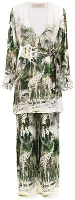 Adriana Degreas silk pyjama set