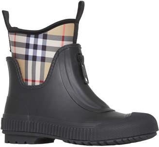 Burberry Flinton Check Rain Booties