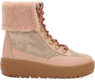 Coach 40mm Tyler Suede & Leather Hiking Boots