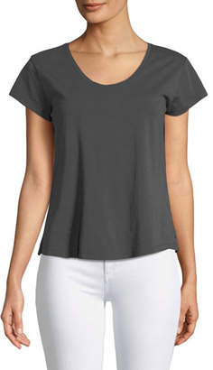 Theory Easy Scoop-Neck Short-Sleeve Tee