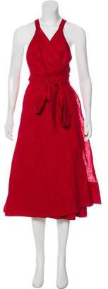 Reformation Linen Midi Wrap Dress w/ Tags