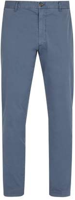 J.w.brine J.W. Brine J.w. Brine - Owen Cotton Blend Chino Trousers - Mens - Blue
