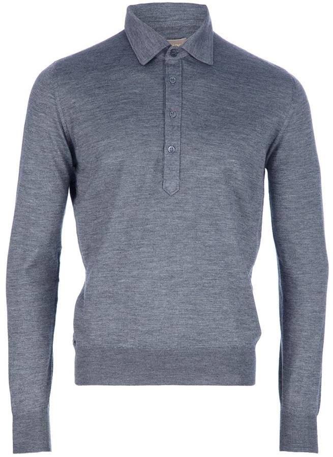 Cruciani Long sleeve polo sweater