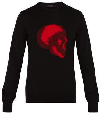 Alexander McQueen Skull Patch Cotton Sweater - Mens - Black Multi