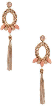 Deepa Gurnani Beaded & Drop Chain Statement Earrings