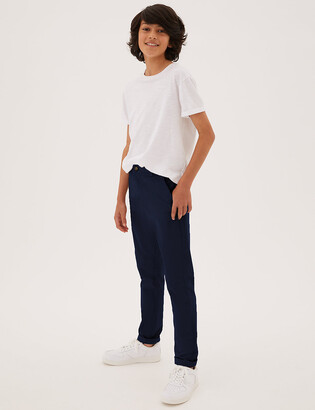 Marks and Spencer Cotton Chinos with Stretch (3-16 Years)