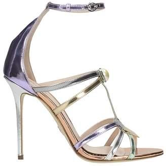 Paula Cademartori Bella Laminated Leather Sandals