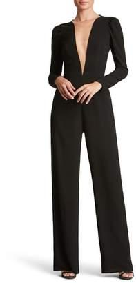Dress the Population Drew Plunging Illusion Jumpsuit