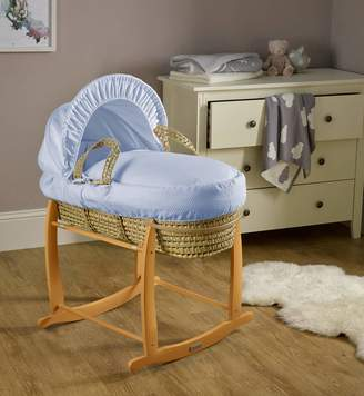 Clair De Lune Cotton Dream Palm Moses Basket - Blue