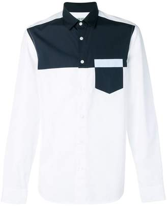 Kenzo two-tone polo shirt