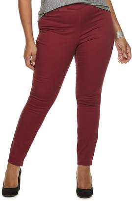 JLO by Jennifer Lopez Plus Size Twill Pull-On Jeggings