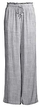 Splendid Women's Railroad Striped Linen-Blend Trousers