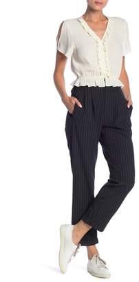 Dress Forum Pinstripe Crop Straight Leg Pants