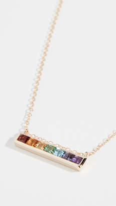 Jane Taylor 14k Channel Set Bar Necklace
