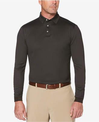 PGA Tour Men Long-Sleeve Birdseye Polo